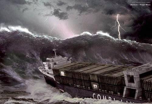 Волна – убийца в Средиземном море