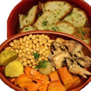 Куропатка с турецким горохом и овощами
